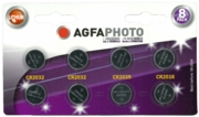 AGFA  PHOTO Button Cell 8's 4xCR2032, 2x2025 & 2x2016 I/cd