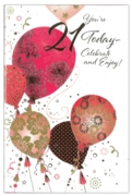 GREETING CARDS,Age 21 Female 6's Foil Balloons