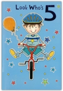GREETING CARDS,Age 5 Male 6's Bicycle & Stars