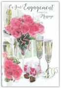 GREETING CARDS,Engagement 6's Floral Chocolates & Bubbly