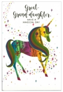 GREETING CARDS,Great Granddaughter 6's Unicorn