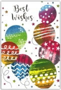 GREETING CARDS,Best Wishes 6's Balloons
