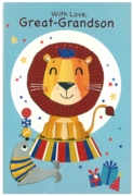 GREETING CARDS,Great Grandson 6's Lion & Seal