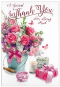 GREETING CARDS,Thank You 6's Floral Candles