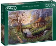JIGSAW,1000pc.Cottage in the Woods (Jumbo)
