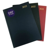 DESK DIARY,A5 Index Casebound, Day to Page 2021