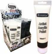 ACRYLIC PAINT,150ml Asst Black & White H/pk Tubes in CDU