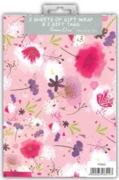 GIFT WRAP PACKETS, Floral Contemporary H/pk