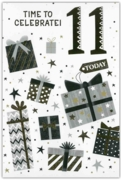 GREETING CARDS,Age 11 Male 12's Stars & Text