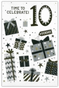 GREETING CARDS,Age 10 Male 12's Stars & Text