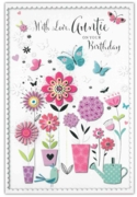 GREETING CARDS,Auntie 12's Floral Butterflies