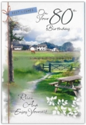 GREETING CARDS,Age 80 Male 12's Countryside