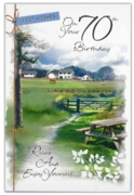 GREETING CARDS,Age 70 Male 12's Countryside