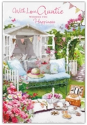 GREETING CARDS,Auntie 12's Floral Garden