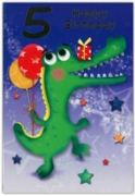 GREETING CARDS,Age 5 Male 12's Dinosaur