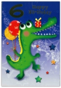 GREETING CARDS,Age 6 Male 12's Dinosaur