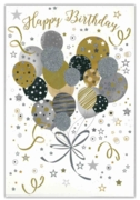 GREETING CARDS,Birthday 6's Balloons & Streamers