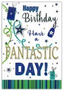 GREETING CARDS,Birthday 6's Presents & Balloons