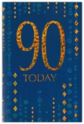 GREETING CARDS,Age 90 Male 6's Blue & Gold