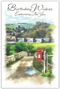 GREETING CARDS,Birthday 6's Countryside Scene