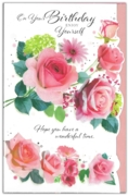 GREETING CARDS,Birthday 6's Roses