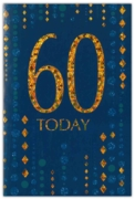 GREETING CARDS,Age 60 Male 6's Blue & Gold