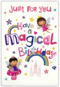 GREETING CARDS,Birthday 6's Fairies