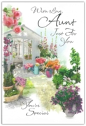 GREETING CARDS,Aunt 6's Floral Garden