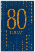 GREETING CARDS,Age 80 Male 6's Blue & Gold