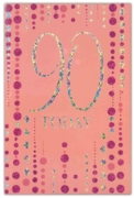 GREETING CARDS,Age 90 Female 6's Pink & Silver