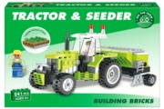BUILDING BRICKS,Tractor & Seeder 259pc Age 6+ Boxed