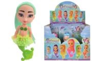 MERMAID PRINCESS,6 Assorted 13cm I/cd CDU