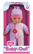 "DOLL,Vinyl Baby with Bottle 13"" Boxed"