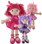 DOLL,Plush Ballerina 40cm 3 Assorted