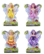 FLOWER FAIRY DOLL 30cm 4 Asst  Clam Pack