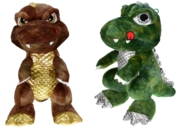 DINOSAUR,Plush,32cm with Big Eyes 2 Assorted