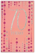 GREETING CARDS,Age 70 Female 6's Pink & Silver