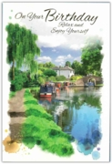 GREETING CARDS,Birthday 12's Canal Scene