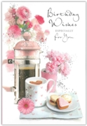 GREETING CARDS,Birthday 6's Coffee & Biscuits