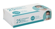 DISPOSABLE FACE MASKS 25's 3 Ply Boxed