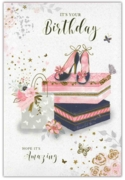 GREETING CARDS,Birthday 6's Shoes