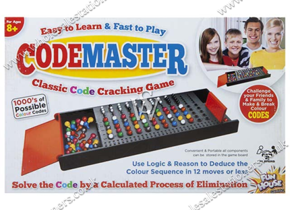 CODEMASTER, Classic Game, Crack the Code, 2 Player, Bxd