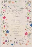 GREETING CARDS,To All the Family 6's Floral Text