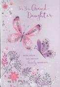 GREETING CARDS,Granddaughter 6's Floral Butterflies