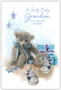 GREETING CARDS,Grandson Congrats.6's Teddy & Shoes
