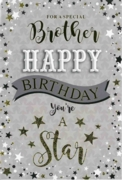 GREETING CARDS,Brother 6's Stars & Text