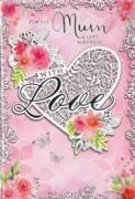 GREETING CARDS,Mum 6's Floral Heart