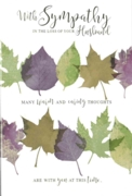 GREETING CARDS,Loss of Husband 6's Autumn Leaves
