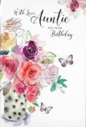 GREETING CARDS,Auntie 6's Floral Vase