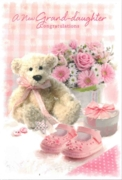 GREETING CARDS,Granddaughter Congrats.6's Teddy & Shoes